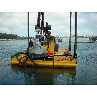 Stabilizer and Kicker spuds for dredges